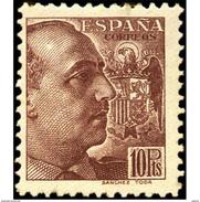 ES878STV-LTV***878STMIL.Spain.Esgane .Militar,politico.FRANCO Sanchez Toda.Dentado Grueso.1939.(Ed 878**) - Militares