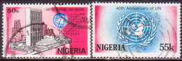 NIGERIA 1985 SG #507-08 Part Set Used Only 20k Missing UN And Nigeria - Nigeria (1961-...)