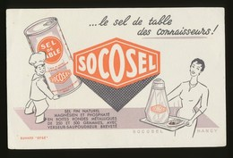 Buvard - SOCOSEL - Le Sel Des Connaisseurs - Buvards, Protège-cahiers Illustrés