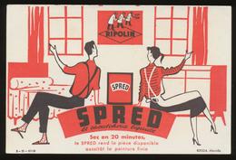 Buvard - PEINTURE SPRED LE CAOUTCHOUC LIQUIDE - Produit Ripolin - Buvards, Protège-cahiers Illustrés