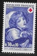 N° 1700   FRANCE -  NEUF  -  CROIX ROUGE JEUNE FILLE AU PETIT CHIEN -  1971 - France
