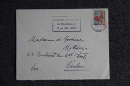 Enveloppe Envoyée De PARIS à TOULON - Marcophilie (Lettres)