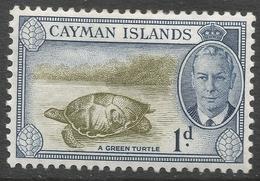 Cayman Islands. 1950 KGVI. 1d MH. SG 137 - Cayman Islands
