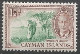 Cayman Islands. 1950 KGVI. 1½d MH. SG 138 - Cayman Islands