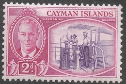 Cayman Islands. 1950 KGVI. 2d MH. SG 139 - Cayman Islands