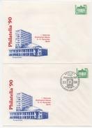 DDR Philaitelia'90 Ganzsache PU 17 Kongreßhalle Postfrisch Und Ersttagsstempel; Private Postal Stationery MNH + FDC - [6] Oost-Duitsland