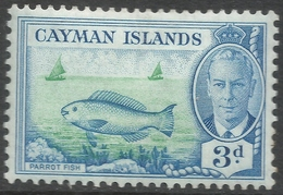 Cayman Islands. 1950 KGVI. 3d MH. SG 141 - Cayman Islands