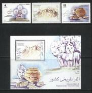 2003 Afghanistan Buddha, Archaeology, History, Tourism Day (3v) + M/Sheet MNH (M-388)