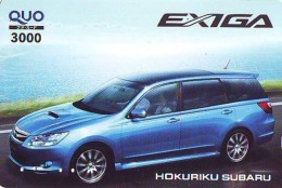 Carte Prépayée Japon * Karte JAPAN (299) SUBARU * CAR * VOITURE * AUTO * Prepaidcard * WAGEN * RALLYE *  RALLY - Cars