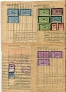 !!! LOT DE TIMBRES SOCIAUX POSTAUX SUR 4 DOCUMENTS - Poststempel (Briefe)