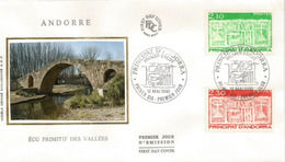 ANDORRA. Pont Roman Sur La Rivière Valira. FDC 1990 - Ponti