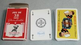 Rare Jeu De 32 Cartes Publicitaire, Pub PÊCHEUR Bière D'Alsace, FISCHER - 32 Cartes