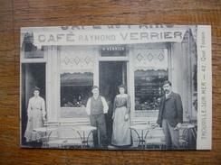 """Réédition , Calvados , Trouville-sur-mer , Le Café Raymond Verrier """" Carte Avec  Belle Animation """" - Trouville"""
