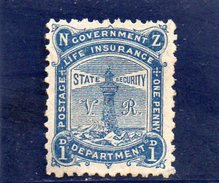 NOUVELLE ZELANDE 1891 SANS GOMME - Officials