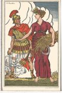 SUIZA ENTERO POSTAL FIESTA NACIONAL 1916 SOLDADO ROMANO LEGIONARIO AGRICULTURA CEREAL - Militaria