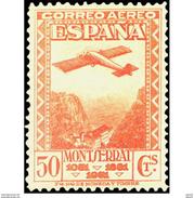 ES653STV-LTV***653STRAE.Spain.Esgane.Montañas Y MONASTERIO  DE MONTSERRAT AEREO.Avion 1931 (Ed 653**) - Nuevos & Fijasellos