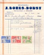 Factuur Facture - Drukkerij J. Boels - Dousy - Avelgem 1946 - Imprimerie & Papeterie