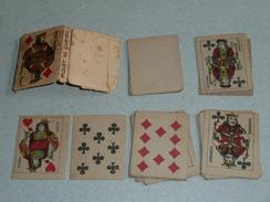 A VOIR Rare Ancien Jeu De 32 Cartes MINIATURES, Complet, Piquet, Pochoir - 32 Cards