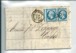 Classiques De France : Lettre Napoléon N°22  Paire ,Variété : Beau Début De Piquage à Cheval