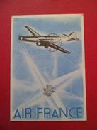 C P Par Avion Air France Liaison Directe Beyrouth-Paris Le 12/1/1938 Tarif Réduit Du 1/12 Au 15/1Grand Liban PA 41   TB - Lettres & Documents