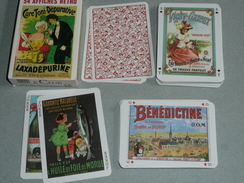 Rare Ancien Jeu De 54 Cartes, Publicitaire Pub Publicité Retro Vintage Art Nouveau, Pharmaceutique, Tourisme Joker - Carte Da Gioco