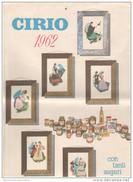 CIRIO 1962 Calendario Pubblicità Regioni D'Italia Alimentazione - Calendari