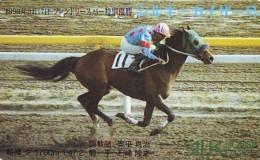 Télécarte Japon * Animal * CHEVAL DE COURSE (150) H0RSE RACING * DERBY * HORSE Japan Phonecard * PFERD * PAARD - Horses