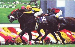 Télécarte Japon * Animal * CHEVAL DE COURSE (152) H0RSE RACING * DERBY * HORSE Japan Phonecard * PFERD * PAARD - Paarden