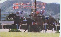 Télécarte Japon * Animal * CHEVAL DE COURSE (156) H0RSE RACING * DERBY * HORSE Japan Phonecard * PFERD * PAARD - Horses