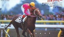 Télécarte Japon * Animal * CHEVAL DE COURSE (157) H0RSE RACING * DERBY * HORSE Japan Phonecard * PFERD * PAARD - Paarden
