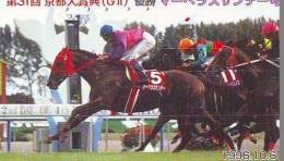 Télécarte Japon * Animal * CHEVAL DE COURSE (158) H0RSE RACING * DERBY * HORSE Japan Phonecard * PFERD * PAARD - Horses