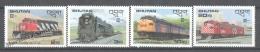 Bhutan - Bhoutan 1987 Yvert 766-69, Locomotives & Canadian Trains - MNH - Bhoutan