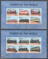 Bhutan - Bhoutan 1996 Yvert 1117-28, World Trains, Locomotives - MNH - Bhoutan