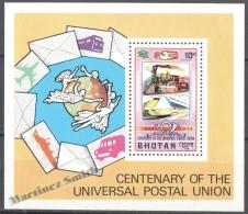 Bhutan - Bhoutan 1974 Yvert BF 61, Centenary Of The Universal Postal Union - MNH - Bhoutan