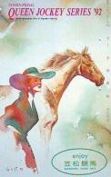 Télécarte Japon * Animal * CHEVAL DE COURSE (160) H0RSE RACING * DERBY * HORSE Japan Phonecard * PFERD * PAARD - Horses