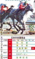 Télécarte Japon * Animal * CHEVAL DE COURSE (190) H0RSE RACING * DERBY * HORSE Japan Phonecard * PFERD * PAARD - Paarden