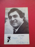 Carte Télé 7 Jours Avec Photo Et Autographe De Jean Dorbel Chanteur  En 1979  à Jolie Blonde....B/TB - Autographes
