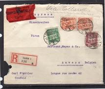 Crefeld Carl Plätter VISA HOLLAND 1924 > Anvers Bertrand Meyer & Co Longue Rue Neuve 2 (r18) - Duitsland