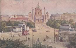 Autriche - Wien -  Karlsplatz - Illustrateur Artist  - 1924 - Ohne Zuordnung