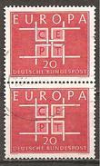 BRD 1963 // Michel 407 O Paar (M) - Europa-CEPT