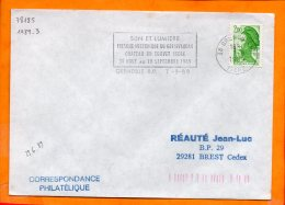 ISERE, Grenoble, Flamme à Texte, Son Et Lumière Chateau Du Touvet 31 Aout-10 Septembre 1989 - Oblitérations Mécaniques (flammes)