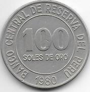 *peru 100 Sol 1980 Km 283  Vf+ - Pérou