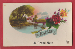 Grand-Metz - Un Baiser De ... - Jolie Carte Fantaisie - 193? ( Voir Verso ) - Leuze-en-Hainaut
