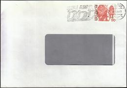 Switzerland Zug 1984 / Swans / Zug Am See / Machine Stamp