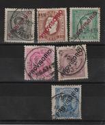 Portugal _timbres De 1870/82 Surchargé Provisorio _n° 80/85 ( 1892 ) - Portugal