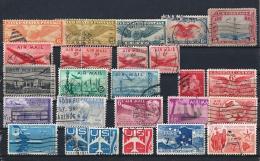 USA03) 1926-1991 AIR MAIL Lotto 65 Francobolli USED E MNH** - 1a. 1918-1940 Usati