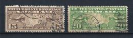 USA05) AIR MAIL 1926-27 Serietta 2 Val USED SCOTT C8-C9 - 1a. 1918-1940 Usati