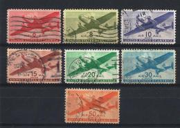 USA04) AIR MAIL 1941-44  Serie Cpl 7 Val USED SCOTT C25-C31 - 2a. 1941-1960 Usati