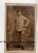 WWI 1917 - 161 EME REGIMENT - CROIX DE GUERRE 1 ETOILE - 2 ET 1 CHEVRONS - CARTE PHOTO MILITAIRE - Guerre 1914-18