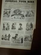 1855 Gravures  Du Journal Pour Rire:Horoscope De La VIERGE; Les Bains à TOURVILLE, Par Brion;BALS ,par Damourette; Etc - Vieux Papiers